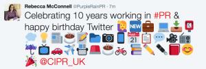 Anniversary Tweet