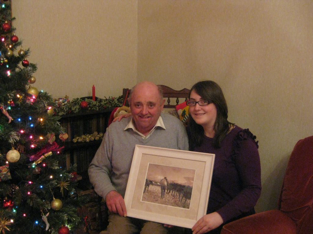 Dad & I with the framed print of that special shot